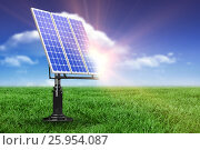 Купить «Digital composite of 3d solar panel», иллюстрация № 25954087 (c) Wavebreak Media / Фотобанк Лори
