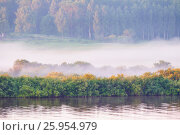 Spring landscape of forest nature and river in the sunrise, фото № 25954979, снято 22 июня 2015 г. (c) Зезелина Марина / Фотобанк Лори
