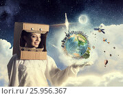 Купить «Dreaming to explore space . Mixed media . Mixed media», фото № 25956367, снято 27 января 2020 г. (c) Sergey Nivens / Фотобанк Лори