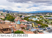 Купить «View of city center Tbilisi. Georgia», фото № 25956655, снято 24 сентября 2016 г. (c) Elena Odareeva / Фотобанк Лори