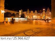Купить «Salt Square in Wroclaw at Night», фото № 25966627, снято 20 сентября 2019 г. (c) easy Fotostock / Фотобанк Лори