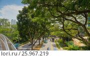 Купить «Singapore park. City traffic rotation timelapse», видеоролик № 25967219, снято 23 марта 2019 г. (c) Кирилл Трифонов / Фотобанк Лори