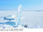 Купить «Пейзаж с торосами на Байкале», фото № 25979767, снято 23 марта 2019 г. (c) Овчинникова Ирина / Фотобанк Лори