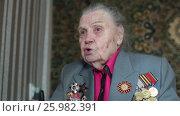 Купить «Ветеран Второй Мировой войны, отвечает на вопросы журналиста», эксклюзивный видеоролик № 25982391, снято 13 апреля 2017 г. (c) Дмитрий Неумоин / Фотобанк Лори