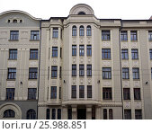 Купить «Riga, Baznicas 46, Art Nouveau, facade elements», фото № 25988851, снято 17 февраля 2017 г. (c) Andrejs Vareniks / Фотобанк Лори