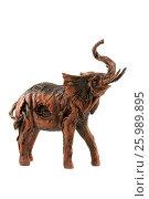 Купить «Elephant figure statue isolated over white», фото № 25989895, снято 26 июня 2011 г. (c) Tatjana Romanova / Фотобанк Лори