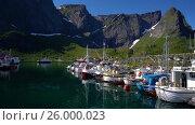 Купить «Lofoten archipelago islands», видеоролик № 26000023, снято 27 марта 2017 г. (c) Андрей Армягов / Фотобанк Лори