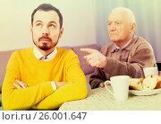 Купить «Father and son arguing», фото № 26001647, снято 19 февраля 2019 г. (c) Яков Филимонов / Фотобанк Лори