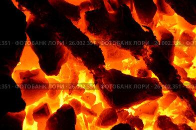 Купить «Раскаленный каменный уголь в качестве фона», фото № 26002351, снято 8 декабря 2016 г. (c) Игорь Кутателадзе / Фотобанк Лори