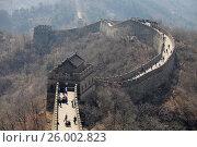 Купить «Великая Китайская стена», фото № 26002823, снято 2 апреля 2017 г. (c) Яна Королёва / Фотобанк Лори
