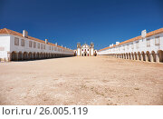 The 15th century Our Lady of the Cape or Nossa Senhora do Cabo Church near cape Espichel, Portugal (2016 год). Стоковое фото, фотограф Serg Zastavkin / Фотобанк Лори