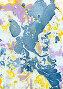 Рисованная мраморная текстура, фон, мраморирование бумаги, иллюстрация № 26005851 (c) Irina Kruskop / Фотобанк Лори