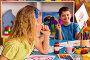 Small students girl and boy painting in art school class., фото № 26007583, снято 25 марта 2017 г. (c) Gennadiy Poznyakov / Фотобанк Лори