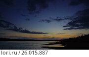 Купить «Dramatic red sunset river landscape, timelapse», видеоролик № 26015887, снято 10 апреля 2017 г. (c) Михаил Коханчиков / Фотобанк Лори