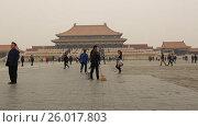 Купить «Beijing. The Palace Museum, Forbidden city», видеоролик № 26017803, снято 3 апреля 2017 г. (c) Яна Королёва / Фотобанк Лори