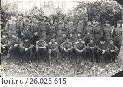 Купить «Групповой портрет военнослужащих Советской армии», фото № 26025615, снято 5 июля 2020 г. (c) Retro / Фотобанк Лори