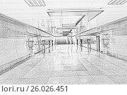 Длинный подземный переход, иллюстрация № 26026451 (c) Евгений Ткачёв / Фотобанк Лори