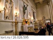 Купить «Алтарь базилики Пьеве Санто Сан-Марино», фото № 26026595, снято 6 ноября 2016 г. (c) Евгений Ткачёв / Фотобанк Лори