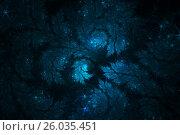 Купить «Иллюстрация звезд, морозного узора», иллюстрация № 26035451 (c) Дмитрий Тищенко / Фотобанк Лори