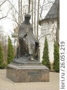 Памятник основателю монастыря святому Савве, фото № 26051219, снято 22 апреля 2017 г. (c) Иванова Анастасия / Фотобанк Лори