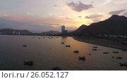 Закат солнца во Вьетнаме (2016 год). Стоковое видео, видеограф Pavel Shumeiko / Фотобанк Лори