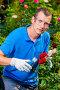 Biologist gardener treats plants with chemicals, фото № 26054383, снято 15 июля 2016 г. (c) Константин Лабунский / Фотобанк Лори