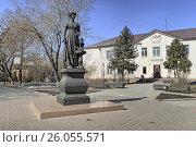 Памятник женам декабристов в  Иркутске, фото № 26055571, снято 26 марта 2017 г. (c) Геннадий Соловьев / Фотобанк Лори