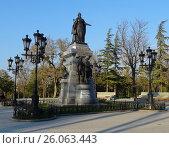 Купить «Памятник Екатерине II», фото № 26063443, снято 11 апреля 2017 г. (c) Ярослав Коваль / Фотобанк Лори