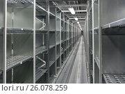Купить «Складские стеллажи», фото № 26078259, снято 18 ноября 2011 г. (c) Цветков Виталий / Фотобанк Лори