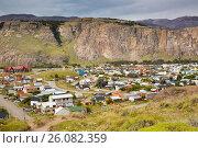 Купить «Small mountain village El Chalten in Santa Cruz», фото № 26082359, снято 31 января 2017 г. (c) Яков Филимонов / Фотобанк Лори