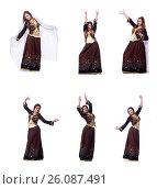 Купить «Young lady dancing traditional azeri dance», фото № 26087491, снято 28 февраля 2013 г. (c) Elnur / Фотобанк Лори