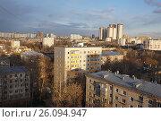 Купить «Москва, вид сверху на район Измайлово», фото № 26094947, снято 17 апреля 2017 г. (c) Павел Москаленко / Фотобанк Лори