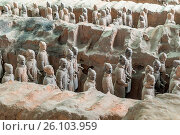 Купить «Xian China Terra Cotta Warriors», фото № 26103959, снято 22 мая 2019 г. (c) easy Fotostock / Фотобанк Лори