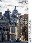 Улица Воронцово Поле, 6-8с1, Посольство Индии в Москве. Стоковое фото, фотограф Малахов Алексей / Фотобанк Лори
