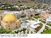 Купить «View on Rabati Castle from citadel in Akhaltsikhe, Georgia», фото № 26115859, снято 29 сентября 2016 г. (c) Elena Odareeva / Фотобанк Лори