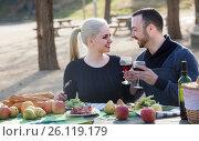 adults drinking wine at table. Стоковое фото, фотограф Яков Филимонов / Фотобанк Лори