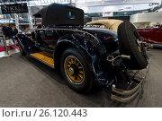 "Купить «STUTTGART, GERMANY - MARCH 02, 2017: Luxury car Mercedes 630 Typ 24/100/140 PS Murphy, 1924. Rear view. Europe's greatest classic car exhibition ""RETRO CLASSICS""», фото № 26120443, снято 2 марта 2017 г. (c) Sergey Kohl / Фотобанк Лори"