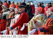 Купить «Томск. Масленичные гулянья», фото № 26120687, снято 13 марта 2016 г. (c) Павел Сапожников / Фотобанк Лори
