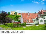 Купить «Hohenschwangau Castle, Fussen, Bavaria, Germany», фото № 26121251, снято 6 июня 2016 г. (c) Юрий Дмитриенко / Фотобанк Лори