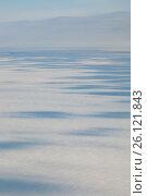 Купить «Облака над зимней тундрой, вид сверху», фото № 26121843, снято 29 марта 2017 г. (c) Владимир Мельников / Фотобанк Лори