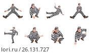Купить «Funny prison inmate in concept», фото № 26131727, снято 2 апреля 2014 г. (c) Elnur / Фотобанк Лори