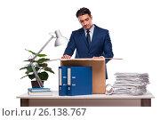 Купить «Businessman made redundant fired after dismissal», фото № 26138767, снято 4 октября 2016 г. (c) Elnur / Фотобанк Лори