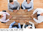 Купить «business people sitting at office table», фото № 26141719, снято 10 октября 2014 г. (c) Syda Productions / Фотобанк Лори