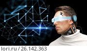 man in virtual reality glasses and microchip, фото № 26142363, снято 17 ноября 2012 г. (c) Syda Productions / Фотобанк Лори