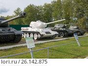 Купить «Образцы советской бронетехники в Центральном музее бронетанкового вооружения и техники, Кубинка», фото № 26142875, снято 1 сентября 2015 г. (c) Pukhov K / Фотобанк Лори