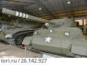 Купить «76 мм самоходная противотанковая установка Hellcat M18 вооруженных сил США в Центральном музее бронетанкового вооружения и техники, Кубинка», фото № 26142927, снято 1 сентября 2015 г. (c) Pukhov K / Фотобанк Лори