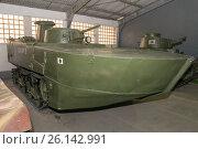 Купить «Японский легкий плавающий танк Kami type 2 в Центральном музее бронетанкового вооружения и техники, Кубинка», фото № 26142991, снято 1 сентября 2015 г. (c) Pukhov K / Фотобанк Лори