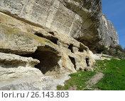 Пещерный город Качи-Кальон, Крым (2017 год). Стоковое фото, фотограф Ярослав Коваль / Фотобанк Лори