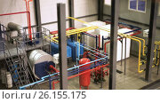 Autonomous boiler room. HD. Стоковое видео, видеограф ActionStore / Фотобанк Лори