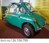 "STUTTGART, GERMANY - MARCH 02, 2017: Microcar Heinkel Kabine (Trojan 200), 1956. Europe's greatest classic car exhibition ""RETRO CLASSICS"" Редакционное фото, фотограф Sergey Kohl / Фотобанк Лори"